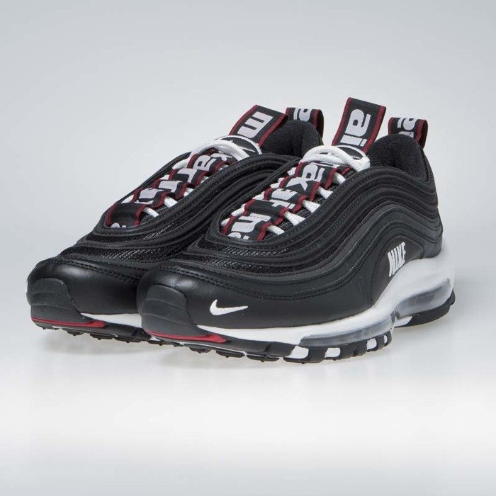 2018 Nike Air Max 97 Premium BlackWhite Varsity Red 312834 008