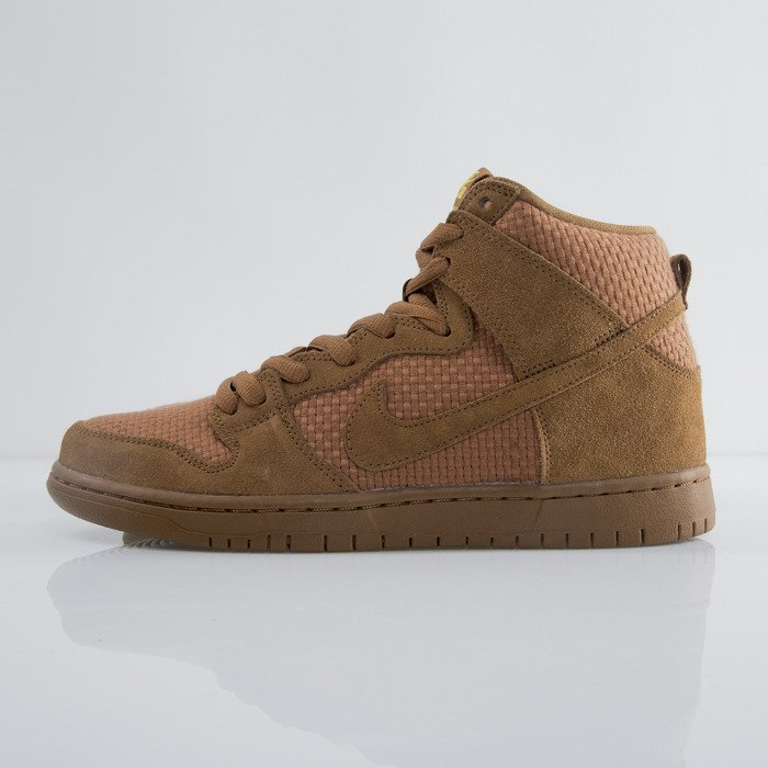 40fc306aec6 ... Sneakers Nike SB Dunk High Premium SB ale brown   ale brown - tr yellow  ...