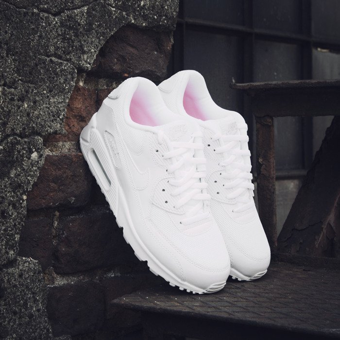 new product 443f8 96729 ... Sneakers Nike WMNS Air Max 90 Premium white white - metallic silver  (443817- .