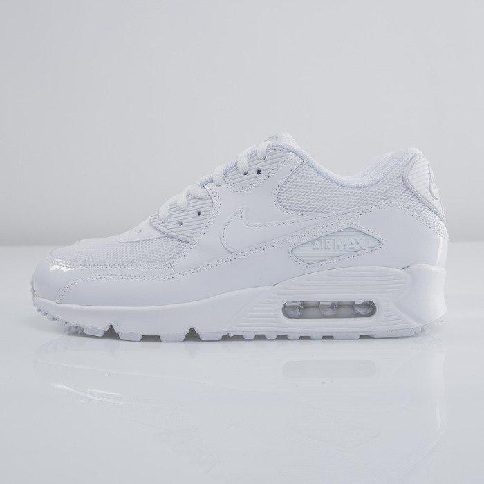 check out 2eb7f 54e1c ... Sneakers Nike WMNS Air Max 90 Premium white  white - metallic silver  (443817- ...
