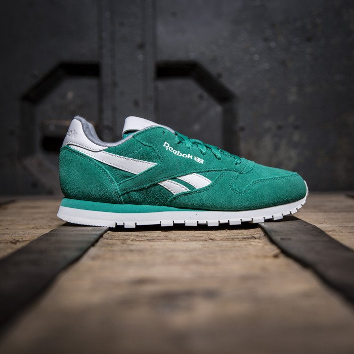 Sneakers Reebok Classic Cl Leather Suede Green Chalk
