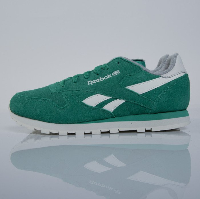 ... Sneakers Reebok Classic CL Leather Suede green   chalk M49099 ... 2864aeb20