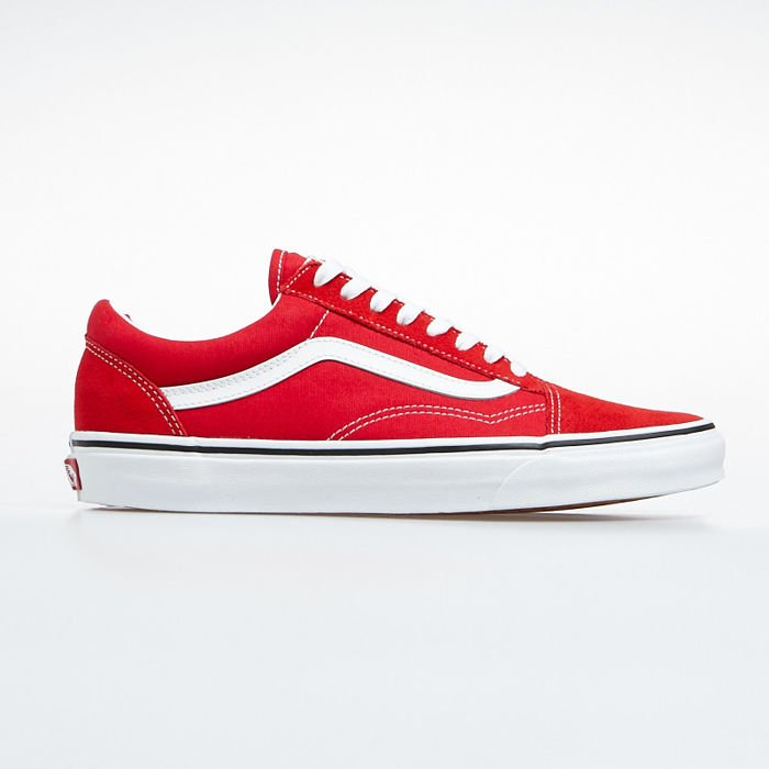 Sneakers buty Vans Old Skool racing redtrue white (VN0A4BV5JV61)