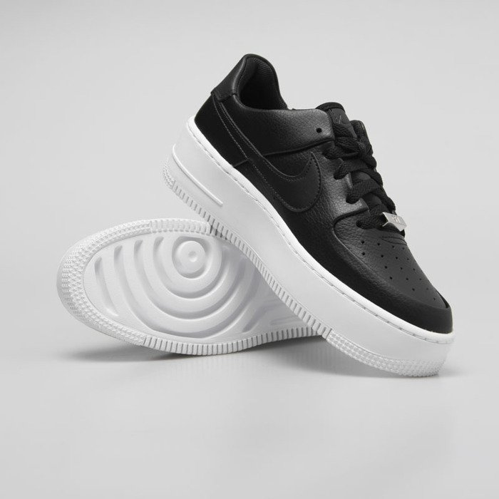 65f97773ad161 ... Sneakers WMNS Nike Air Force 1 Sage Low black / black-white (AR5339- ...