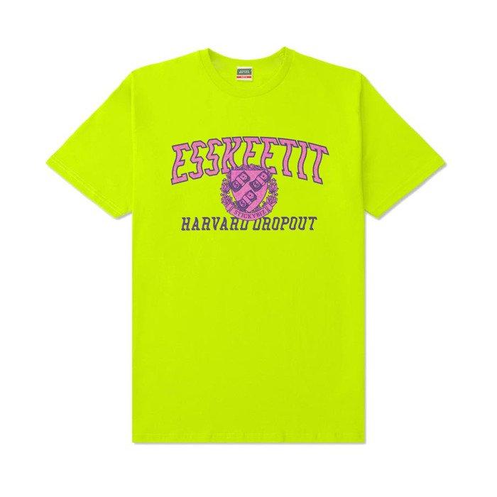 6288d26ecf72e ... StickyBiz T-Shirt Esskeetit Harvard Dropout safety green ...