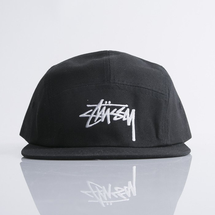... Stussy 5panel Cap Stock Camp black ... fc63a0584