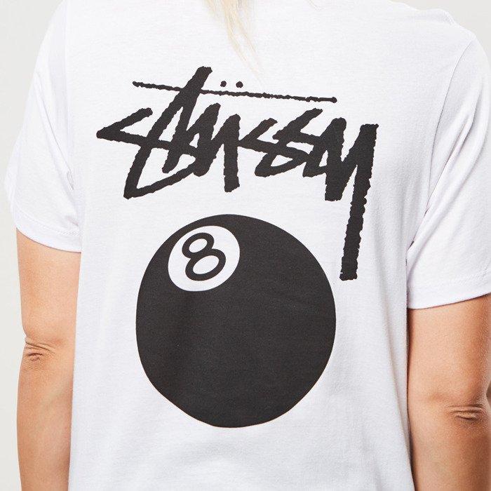 e2626a30 Stussy 8 Ball Boyfriend Tee white WMNS   Bludshop.com