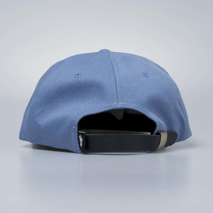 76bdc0d2f689e ... Stussy Melange Denim Strapback Cap blue ...