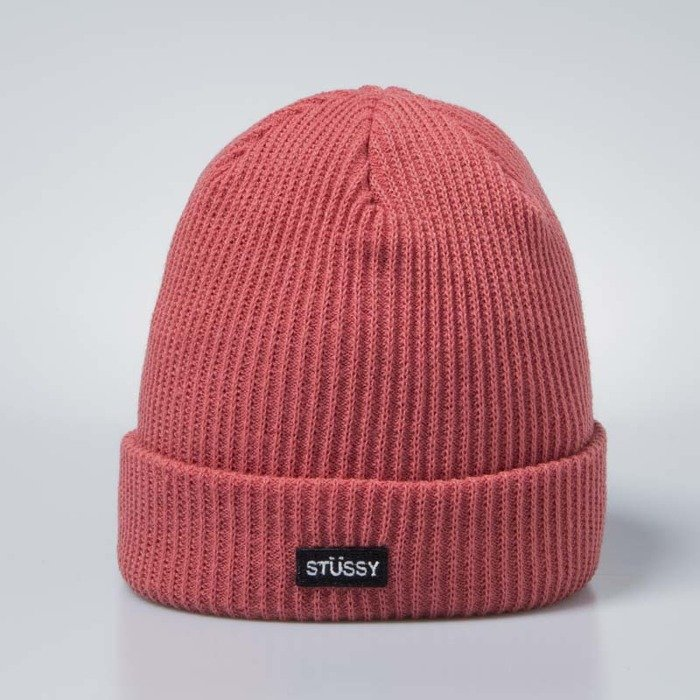 aaf2504867d Stussy Small Patch Watch Cap Beanie rose