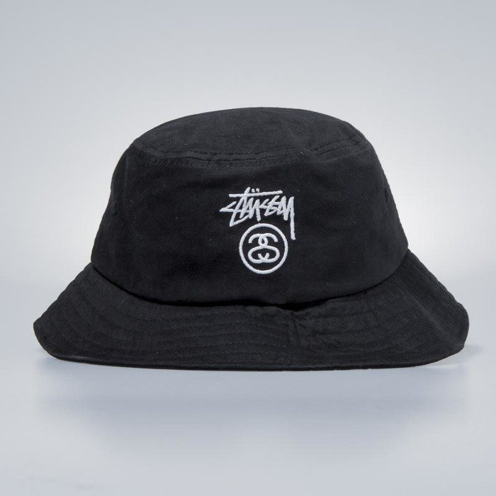 Stussy Stock Lock Bucket Hat black | Bludshop.com