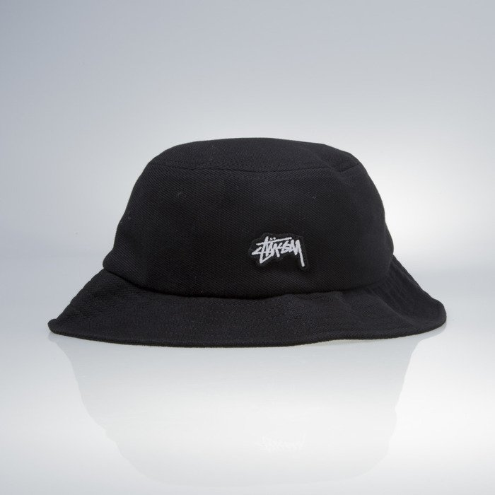 e9c9ef0c94c ... Stussy bucket hat Stock Logo Pique black ...