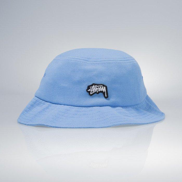 Stussy bucket hat Stock Logo Pique blue  e7299159f50