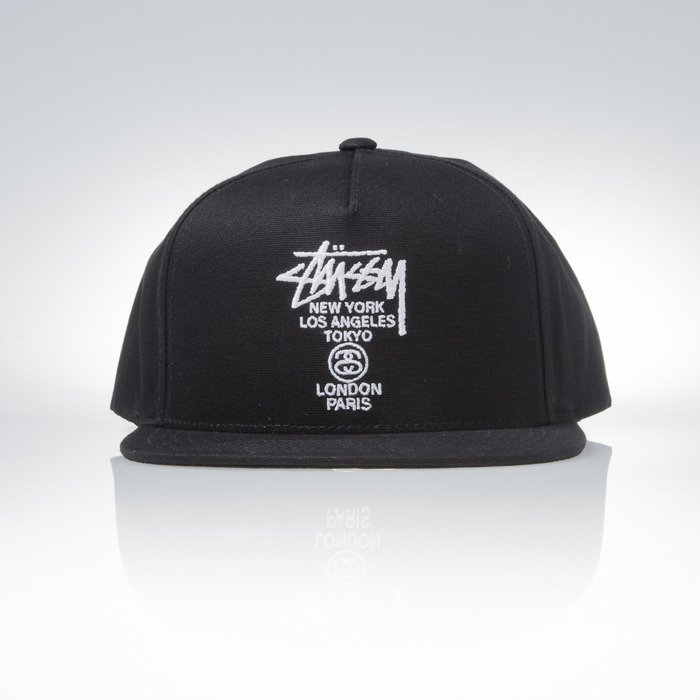 7c0b4e3587d ... Stussy snapback World Tour black ...
