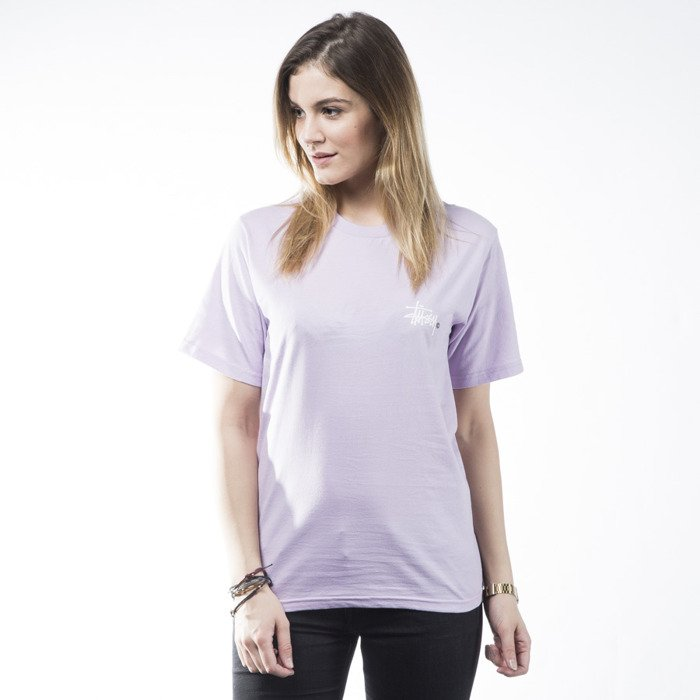 c5cf75674 Stussy t-shirt Basic Logo light purple WMNS   Bludshop.com