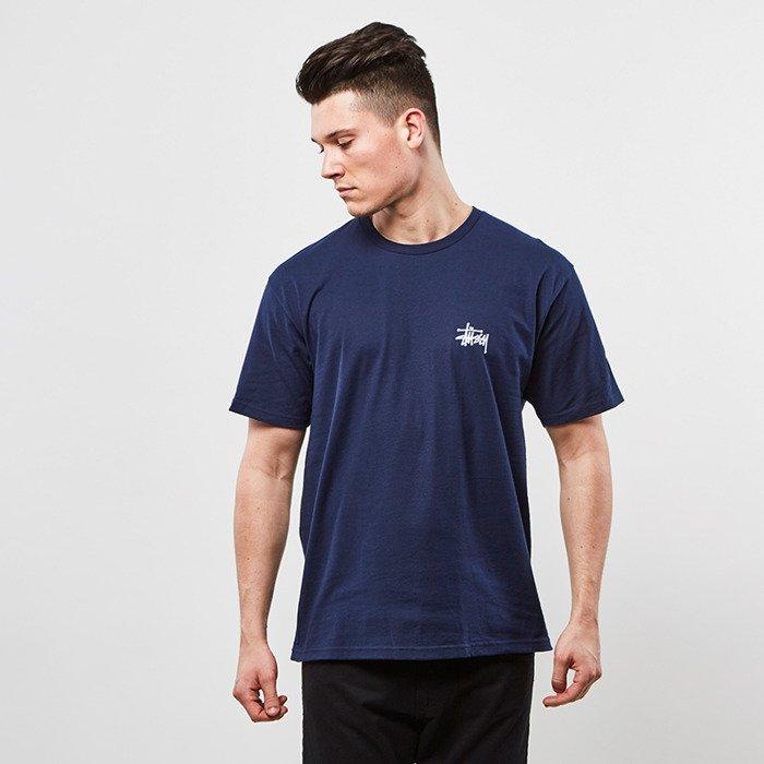 f76bf531642 ... Stussy t-shirt Basic Stussy Tee navy ...