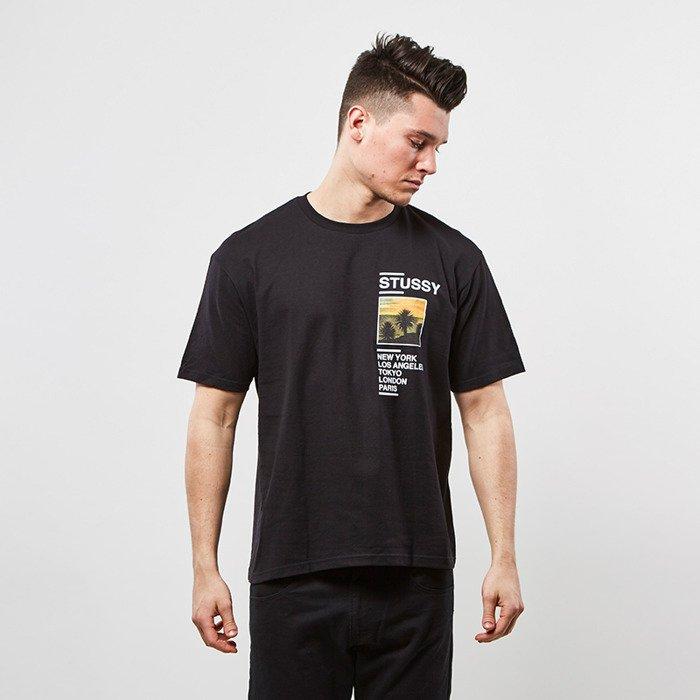 84d2341ac2b ... Stussy t-shirt Gold Coast Tee black ...