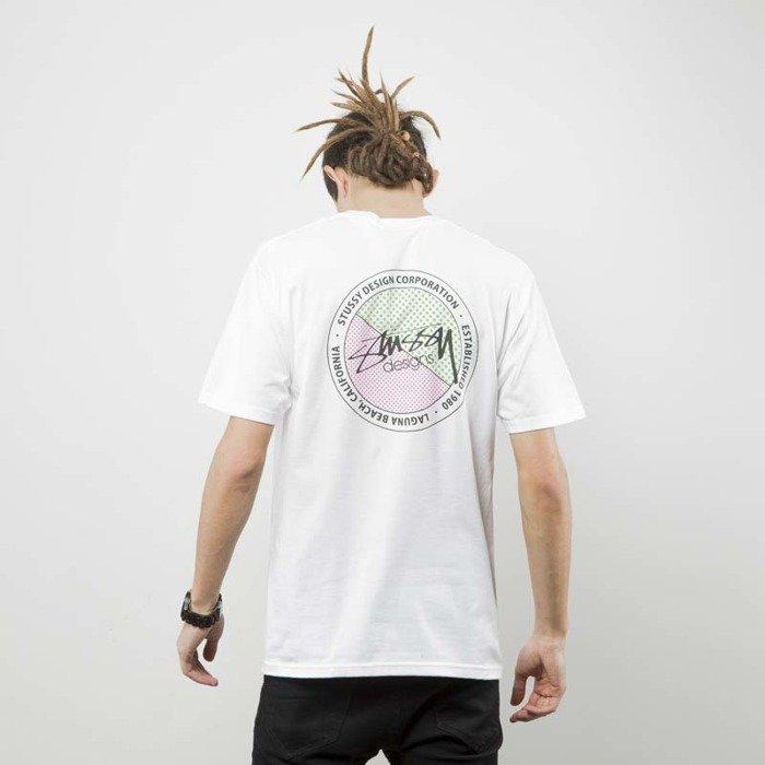 0375219d Stussy t-shirt Halftone Dot Tee white .