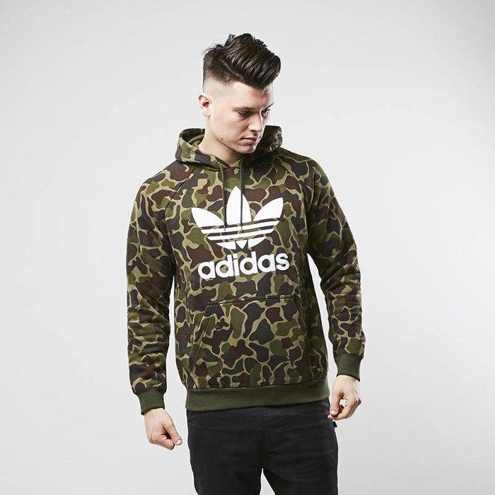 look for speical offer cozy fresh Sweatshirt Adidas Originals Trefoil Camouflage Hoody multicolor