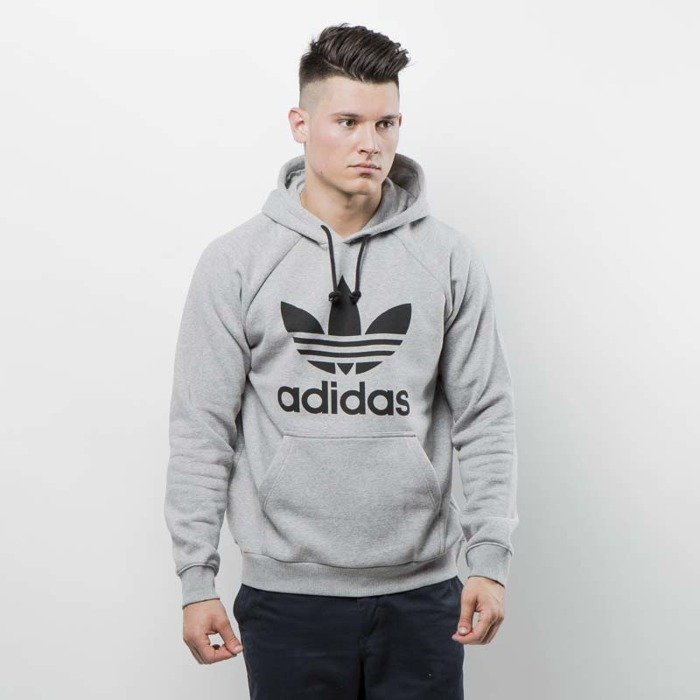 Sweatshirt Adidas Originals Trefoil Hoody medium grey heather BR4164
