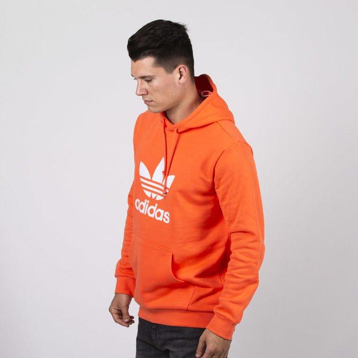 szczegóły dla nowy styl życia nowy styl Sweatshirt Adidas Originals Trefoil Hoody true orange