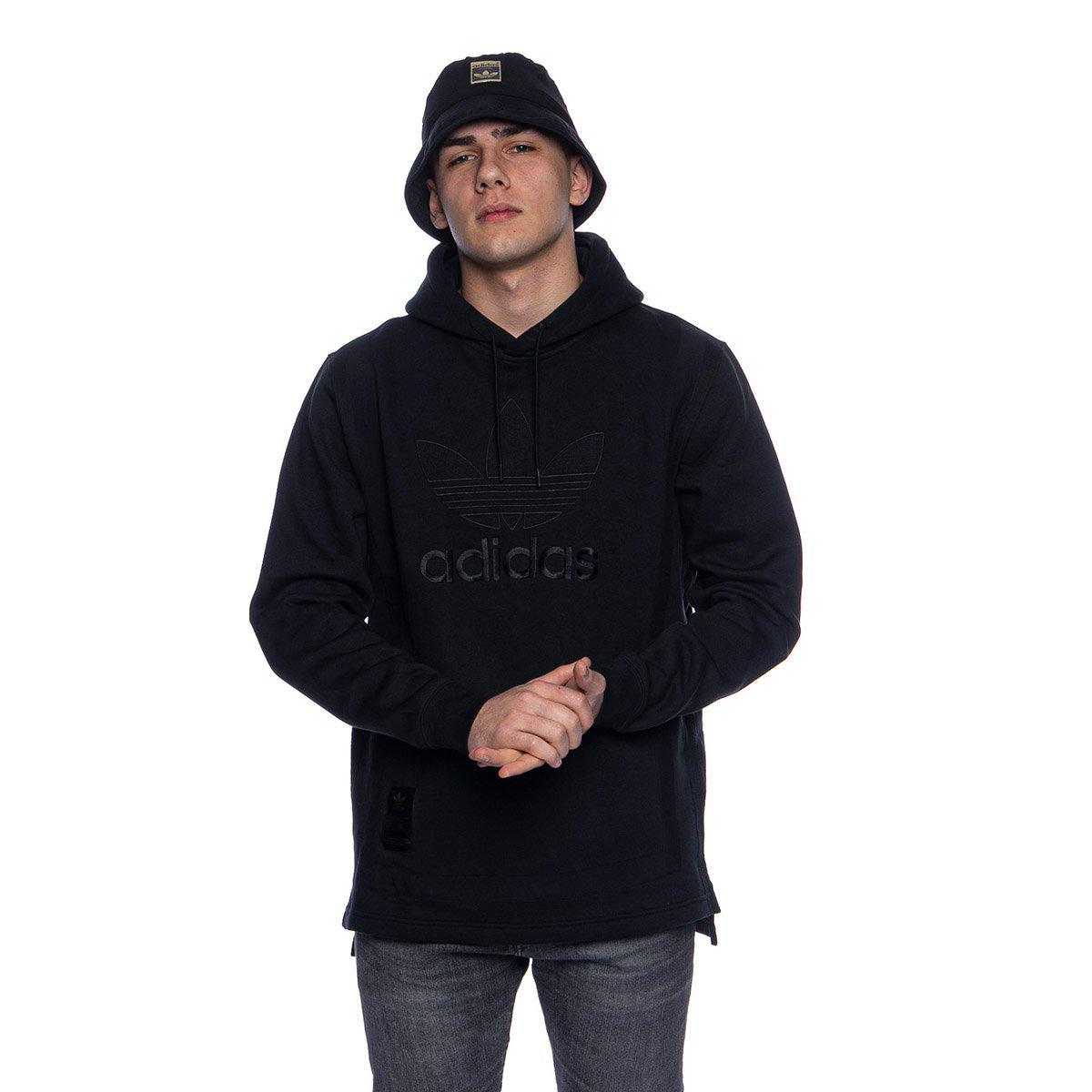 Outline Hoodie Power Red Black EI7515 | Adidas sweater