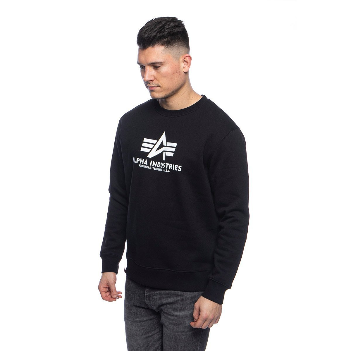 Alpha Industries Kinder Basic Sweater schwarz