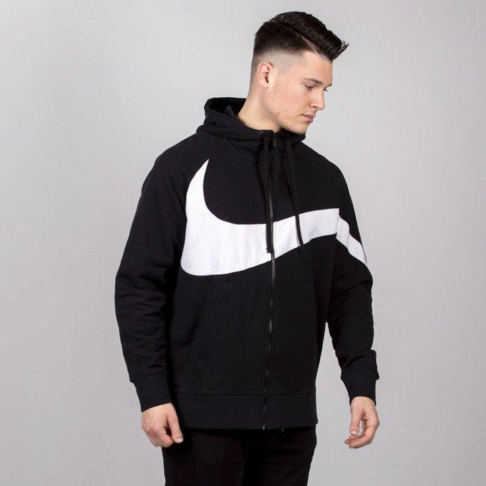 664a0c070 Sweatshirt Nike NSW HBR Hoodie FZ FT STMT black / white | Bludshop.com