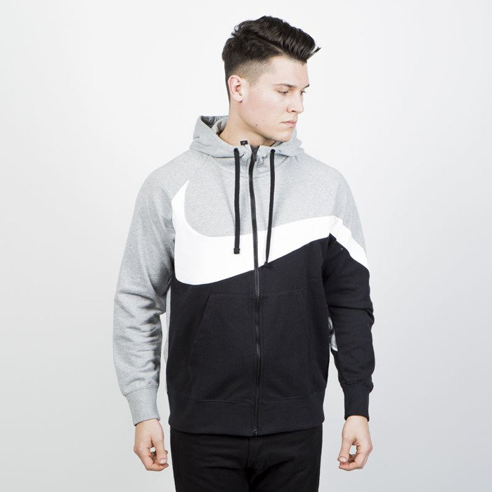 fa69db958aed ... Sweatshirt Nike NSW HBR Hoodie black   grey heather (AR3084-063) ...