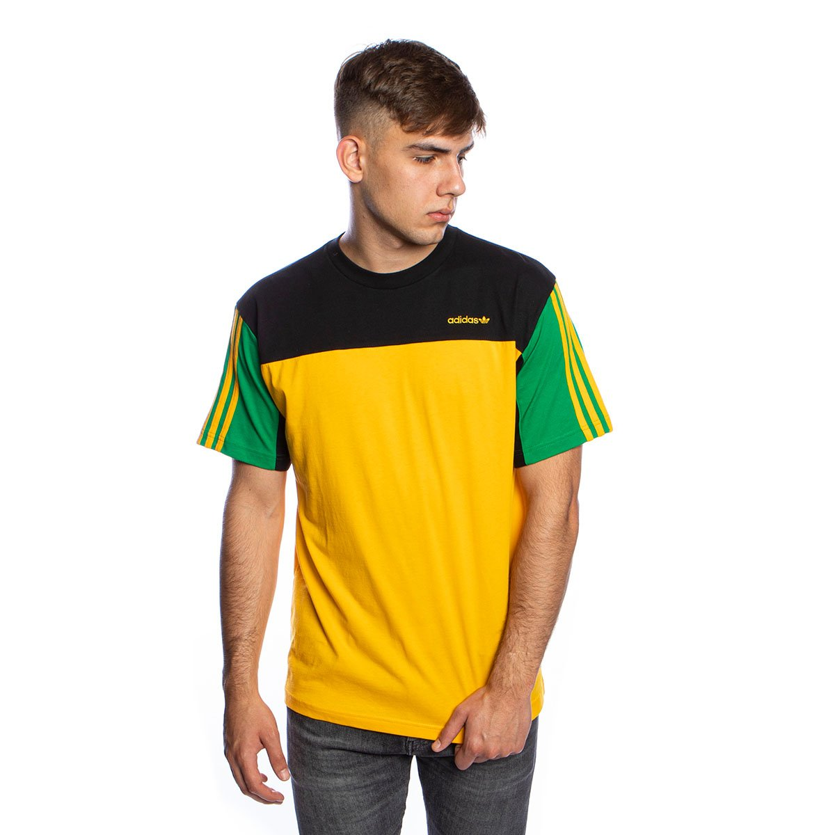 Uganda Vergonzoso secuencia  T-shirt Adidas Originals Classic SS tee active gold/black | Bludshop.com