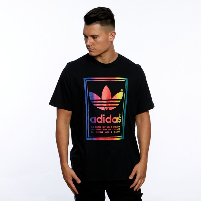 classcic di prim'ordine metà fuori T-shirt Adidas Originals Vintage Tee black/multicolor | Bludshop.com
