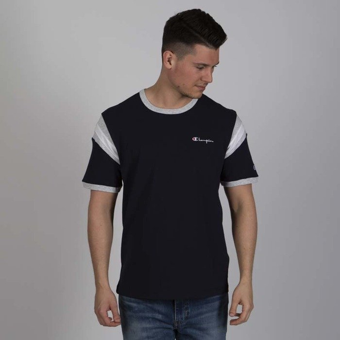 36832ea6 T-shirt Champion Reverse Weave navy / grey heather   Bludshop.com