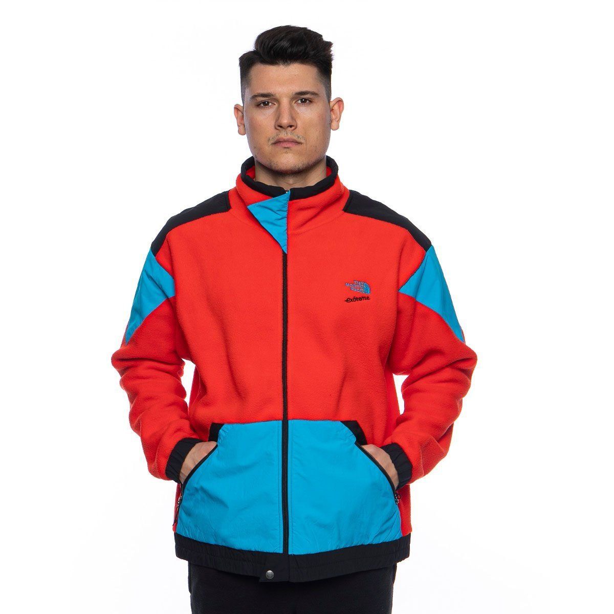 The North Face 90 Extreme Fleece FZ Jacket fiery red combo