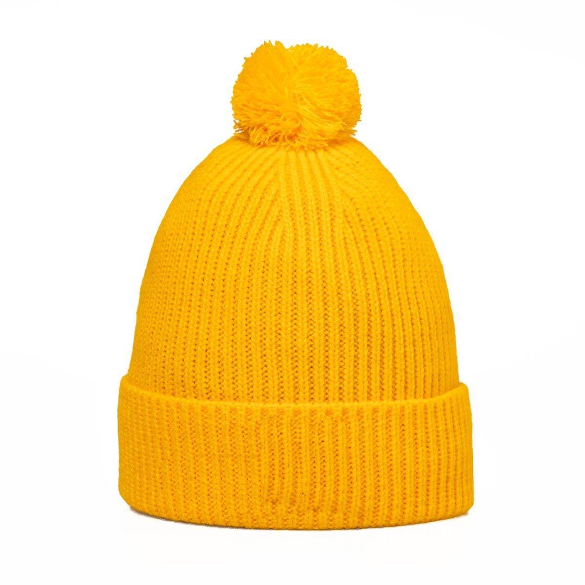 The North Face Logo Box Pom Beanie yellow