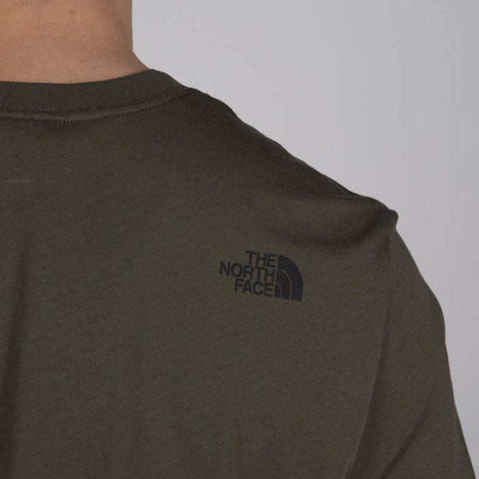 e401304d425e37 The North Face T-Shirt M S S Fine Tee new taupe green ...