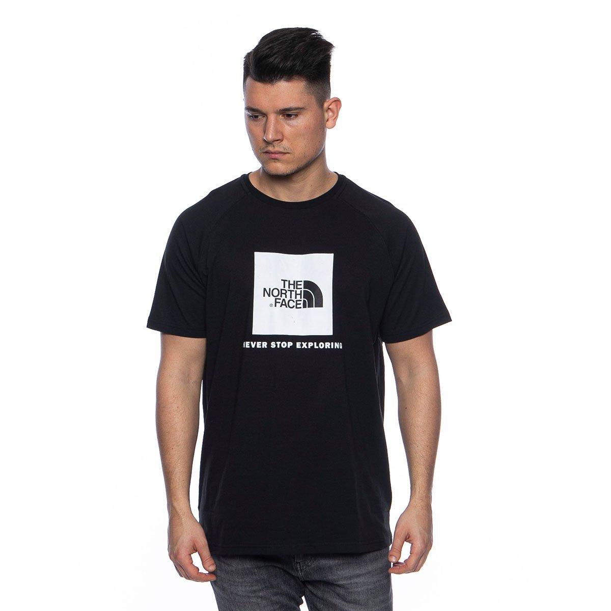 The North Face T Shirt M SS Rag Red Box Tee blackwhite