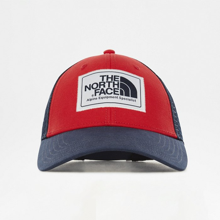 867dcb7135ce1 The North Face snapback Mudder Trucker Hat red   navy