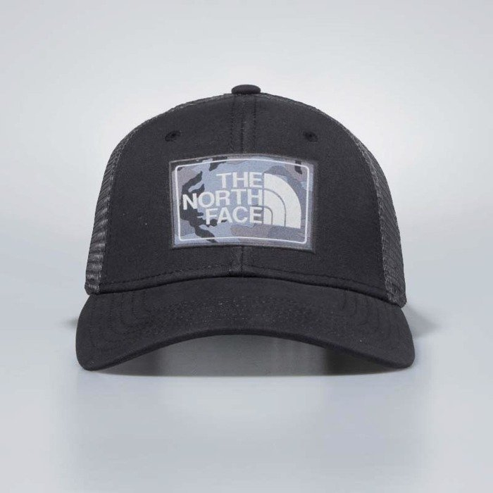 0ac2fc9ff99a2 The North Face snapback Mudder Trucker Hat tnf black / asphalt grey camo  T0CGW22YC | Bludshop.com