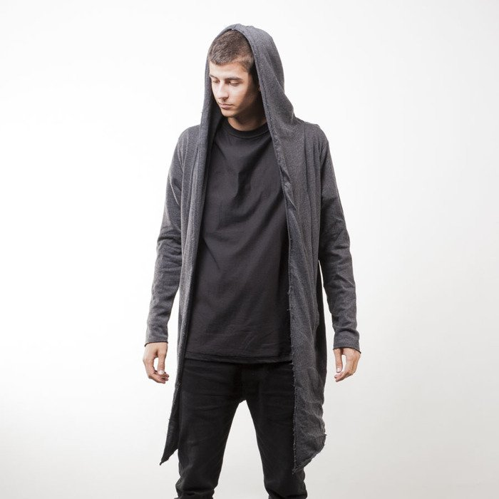 new high quality official price enjoy free shipping Urban Classics Long Hooded Open Edge Cardigan charcoal (TB1389)