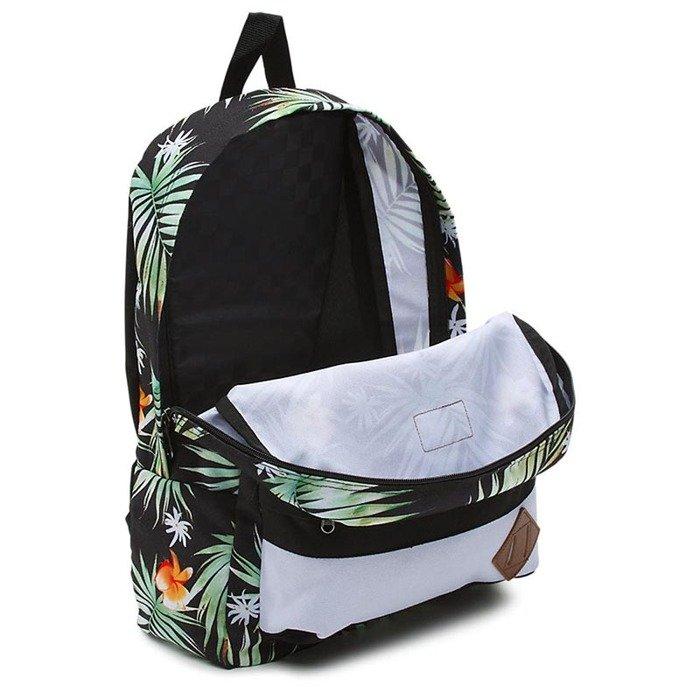 cfe1e7a826d3b Vans backpack Old Skool II Backpack black decay palm VN000ONIKWH ...