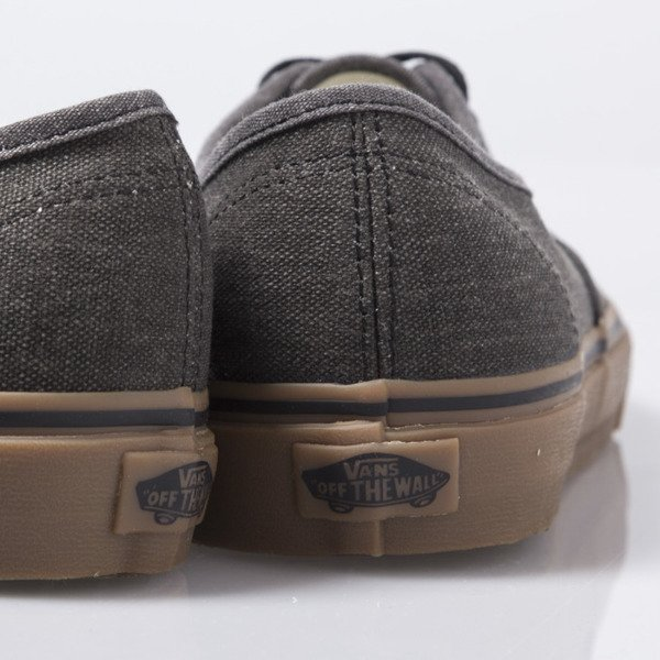 b3c13537948f Vans Authentic (Washed Canvas) black   gum (VN0004MKAKJ) ...