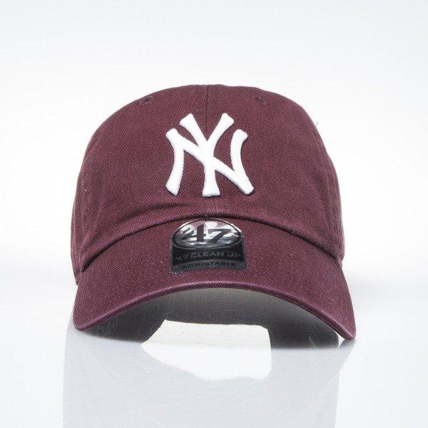 57591e4b476  47 Brand strapback cap New York Yankees maroon