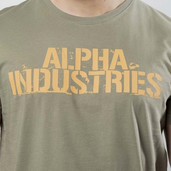 Alpha Industries t-shirt Blurred T olive 186506/11