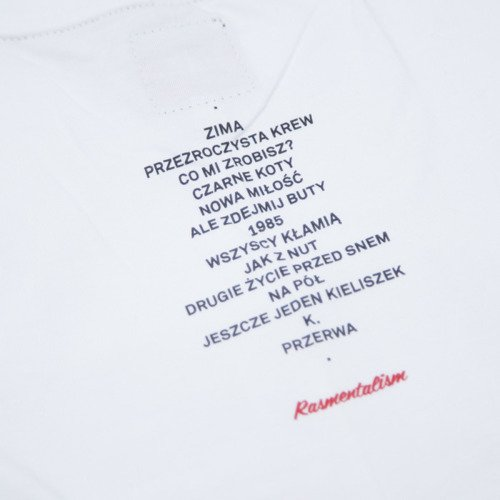 "Backard Cartel t-shirt Rasmentalism ""1985"" white"