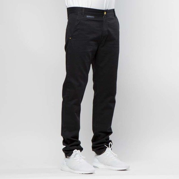 Backyard Cartel Chinos Pants Label tapered fit black