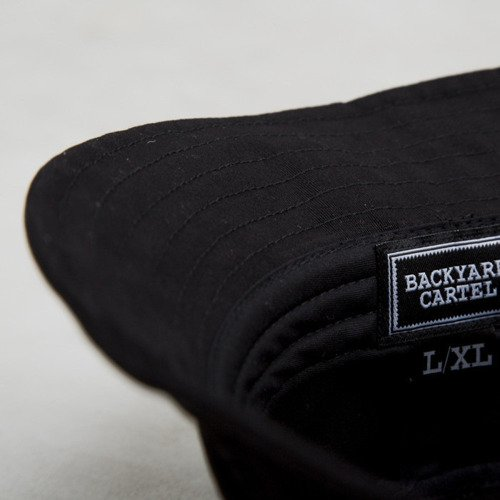 Backyard Cartel bucket Label Logo black