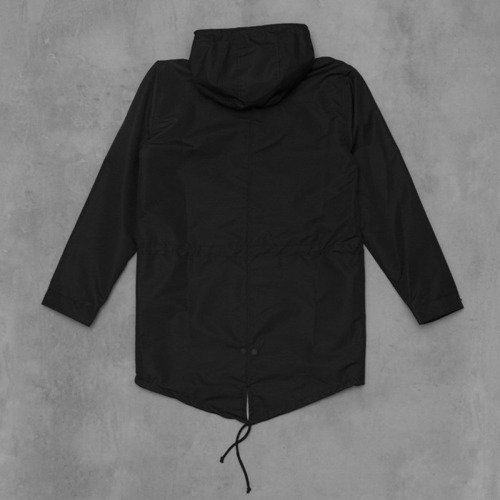 Backyard Cartel jacket ATHL Long Parka black ripstop