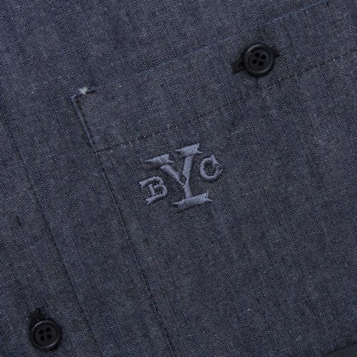 Backyard Cartel shirt Chambray Long light navy