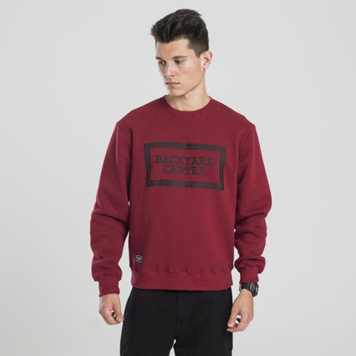 Backyard Cartel sweatshirt Label Logo crewneck claret
