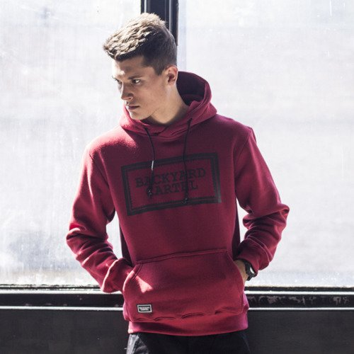Backyard Cartel sweatshirt Label Logo hoody claret