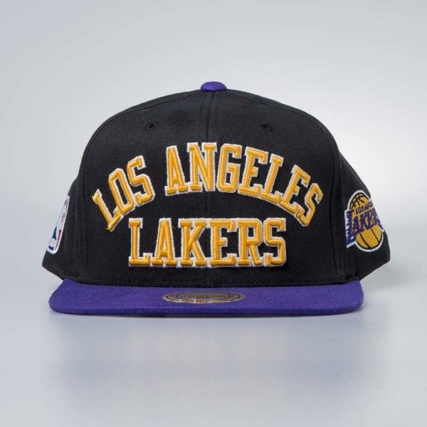 Cap Mitchell & Ness snapback Los Angeles Lakers black Wordmark Jersey Hook